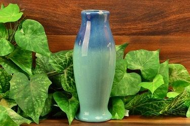 Muncie Pottery Tall Blue Vase