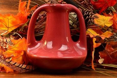 Muncie Pottery Red Vase