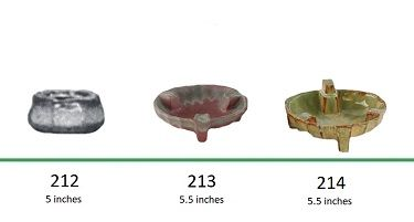 Muncie Pottery Shapes 212, 213, 214
