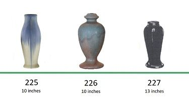 Muncie Pottery Shapes 225, 226, 227