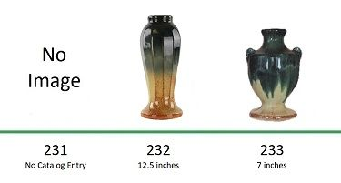 Muncie Pottery Shapes 231, 232, 233
