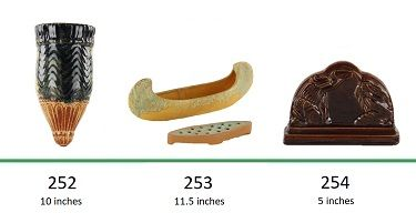 Muncie Pottery Shapes 252, 253, 254