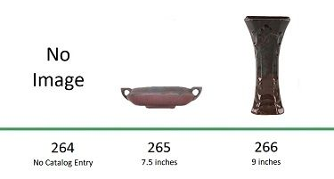 Muncie Pottery Shapes 264, 265, 266