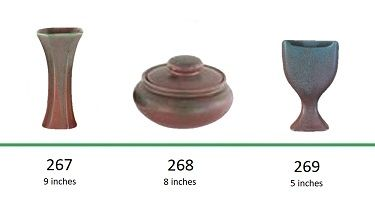 Muncie Pottery Shapes 267, 268, 269