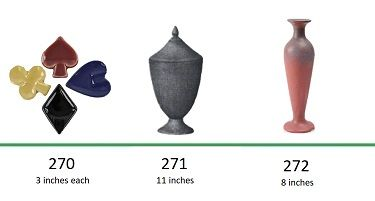 Muncie Pottery Shapes 270, 271, 272