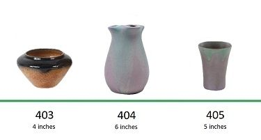 Muncie Pottery Shapes 403, 404, 405