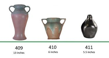 Muncie Pottery Shapes 409, 410, 411