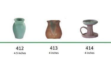Muncie Pottery Shapes 412, 413, 414