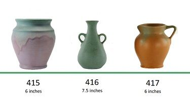 Muncie Pottery Shapes 415, 416, 417