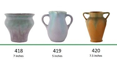 Muncie Pottery Shapes 418, 419, 420