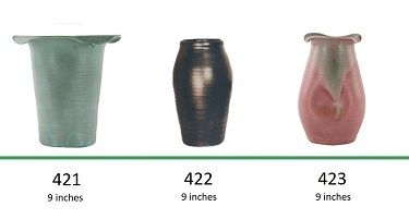 Muncie Pottery Shapes 421, 422, 423
