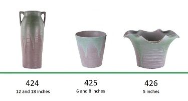 Muncie Pottery Shapes 424, 425, 426