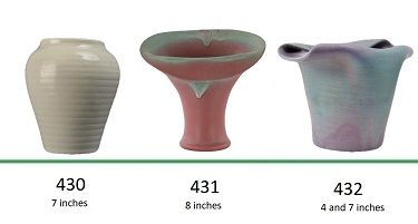 Muncie Pottery Shapes 430, 431, 432