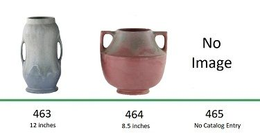 Muncie Pottery Shapes 460, 461, 462