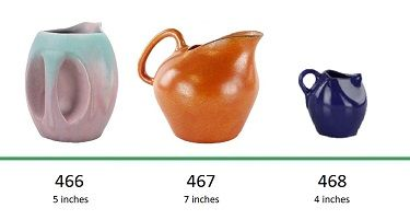 Muncie Pottery Shapes 466, 467, 468