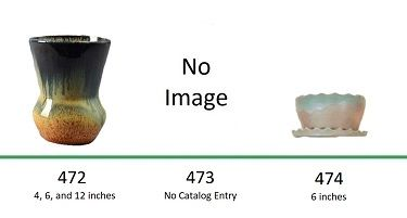 Muncie Pottery Shapes 472, 473, 474