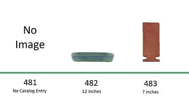Muncie Pottery Shapes 481, 482, 483