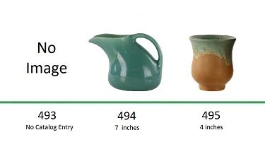 Muncie Pottery Shapes 493, 494, 495